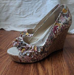 Colorful Wedge Heel